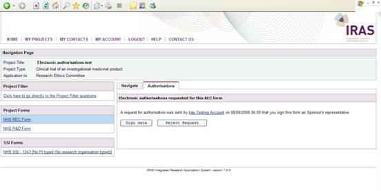IRAS Help - Using IRAS - Electronic authorisation